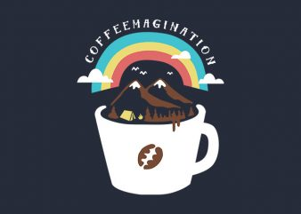 Coffeemagination t shirt vector file