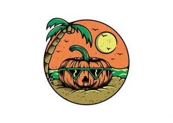 Pumpkin Summer t shirt illustration