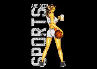 women basketball Vector t-shirt design