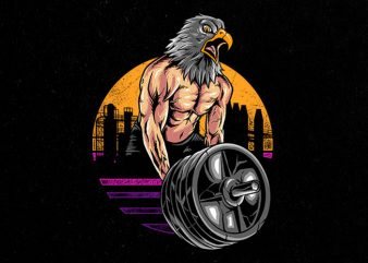 eagle gym Graphic t-shirt design