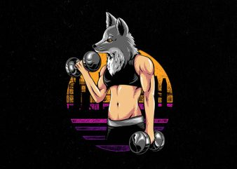fox gym Graphic t-shirt design