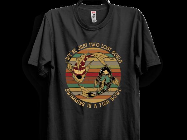 Retro fish t shirt design online