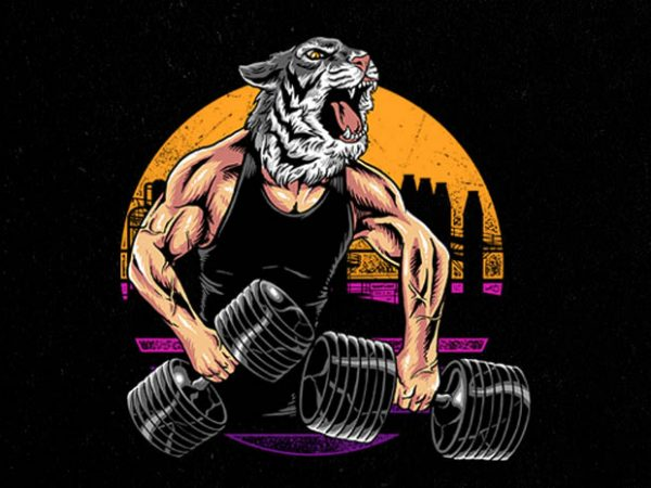 tiger gym Graphic t-shirt design