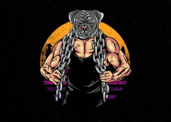 bulldog gym Graphic t-shirt design