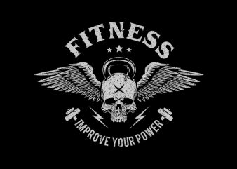 fitness Vector t-shirt design