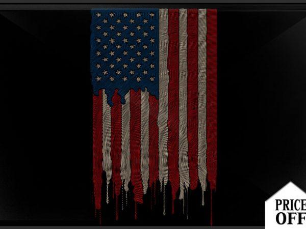 AMERICAN FLAG Finger t shirt vector