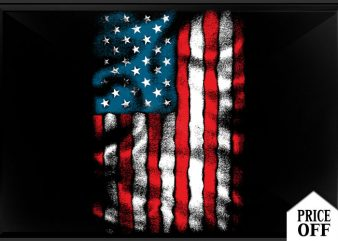 AMERICAN Flag Chest t shirt vector