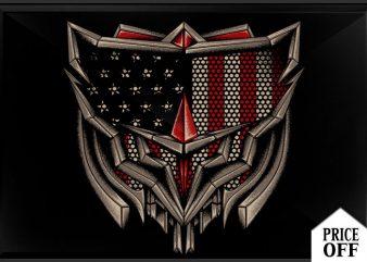American shield t shirt vector