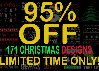 SPECIAL CHRISTMAS BUNDLE – 171 DESIGNS – 95% OFF – LIMITED TIME ONLY!