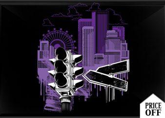 City Sky t shirt vector file