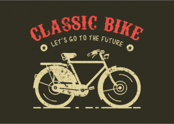 Classic Bike t shirt vector file