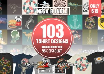 103 Vector T-shirt Designs