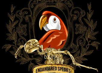 ENDANGERED SPECIES vector clipart