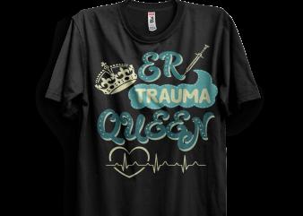 ER Trauma Queen – nurse nursing emergency vector clipart