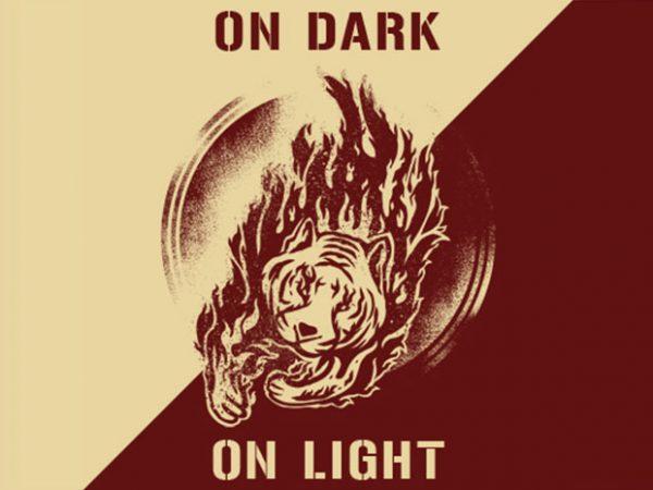 Flamming Tiger t shirt graphic design