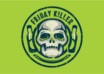 Friday Killer t shirt graphic design
