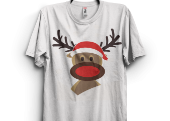 Funny Christmas Deer t shirt graphic design