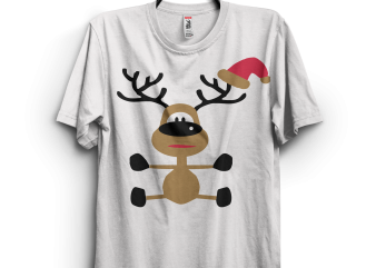 Funny Christmas Indeer t shirt graphic design