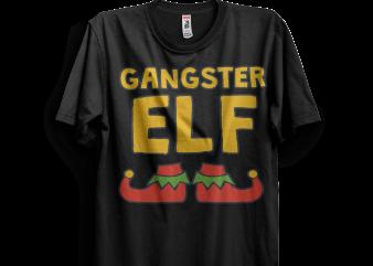 Gangster Elf Shoes t shirt design template