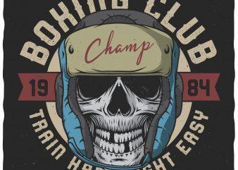 Boxing club. Vector t-shirt design.