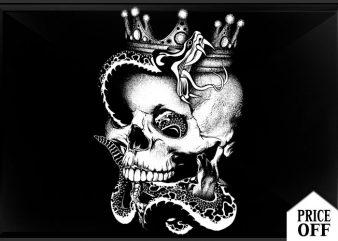 King is dead t shirt vector art