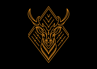 King of Deer t shirt vector art
