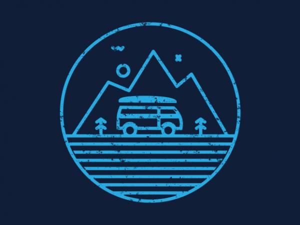 Line Adventure t shirt vector graphic