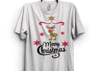 Merry Christmas Indeer t shirt designs for sale