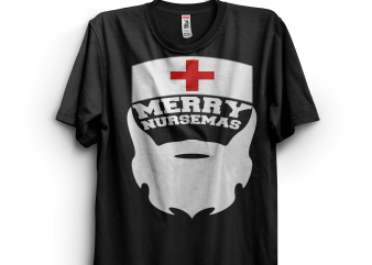 Merry Nursemas Santa Nurse t shirt designs for sale