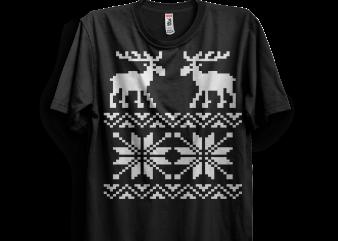 Moose Pattern t shirt designs for sale