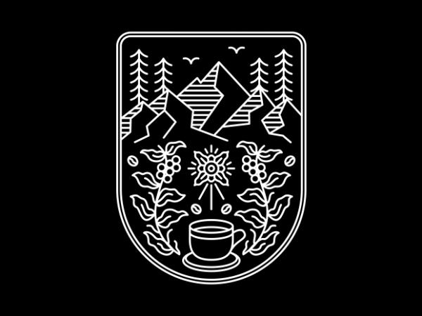 Natural Coffee T shirt vector artwork