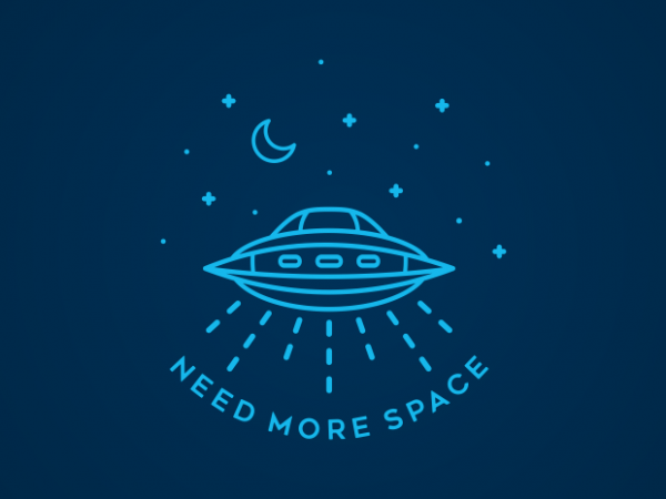 Need More Space T shirt vector artwork