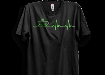 Nurse and coffee T shirt vector artwork