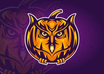 Owl Pumpkin t shirt design online