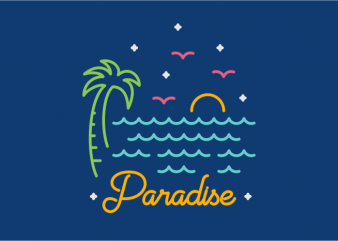 Paradise t shirt illustration