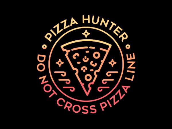 Pizza Line t shirt illustration