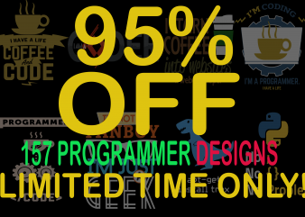 SPECIAL PROGRAMMER BUNDLE – 157 DESIGNS – 95% OFF – LIMITED TIME ONLY!
