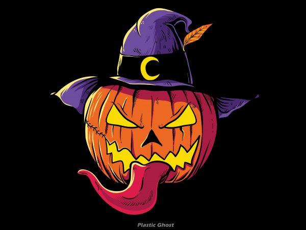 Pumpkin Head Halloween t shirt illustration