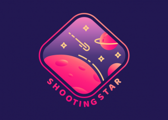 Shooting Star t shirt template vector