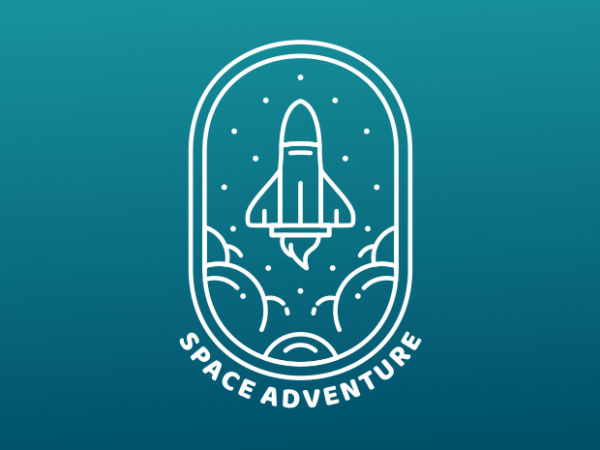 Space Adventure t shirt template vector