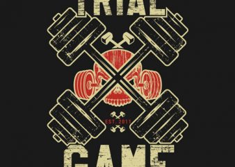 Trial game t-shirt design vector