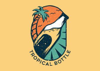 Tropical Bottle t shirt designs for sale