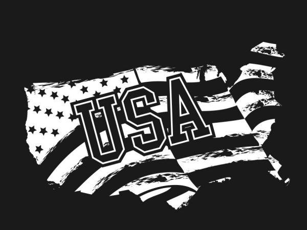 American (USA) flag design t-shirt