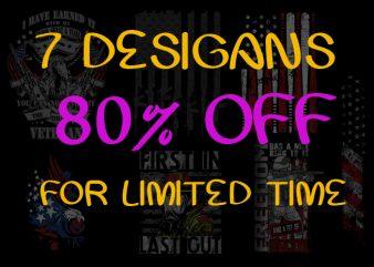 Design Bundle 80% off for limited time t shirt vector illustration