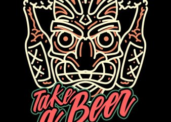 take a beer tshirt design