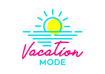 Vacation Mode t shirt vector art