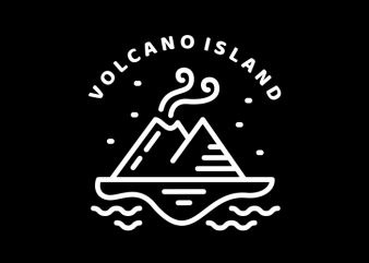 Volcano Island t shirt vector art