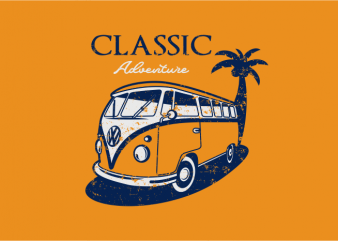 Classic Adventure t shirt vector file