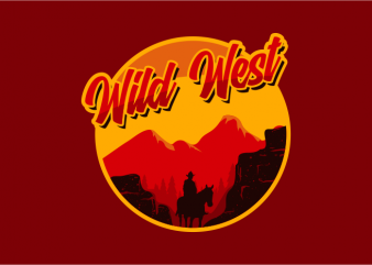 Wild West Desert t shirt design for sale