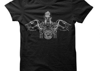 Biker Spartan Vector t-shirt design